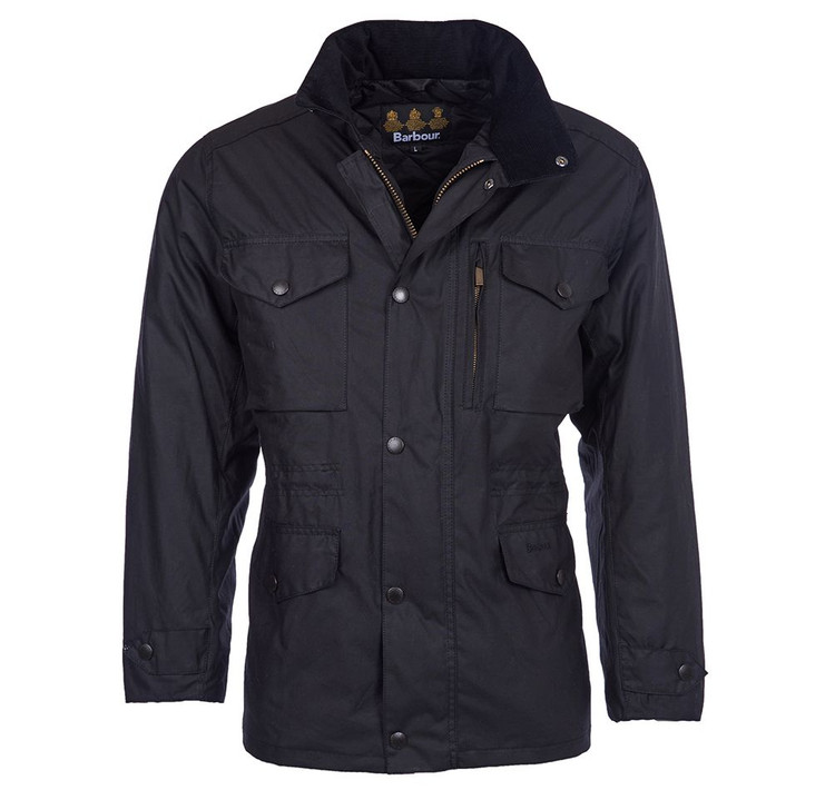 Sapper Wax Jacket in Black by Barbour