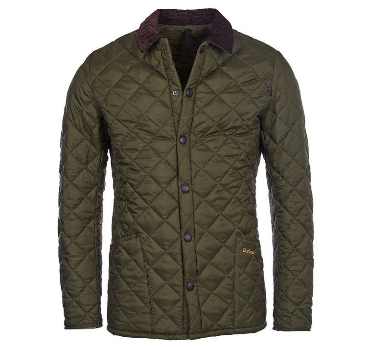 Heritage Liddesdale Quilted Jacket in Olive by Barbour