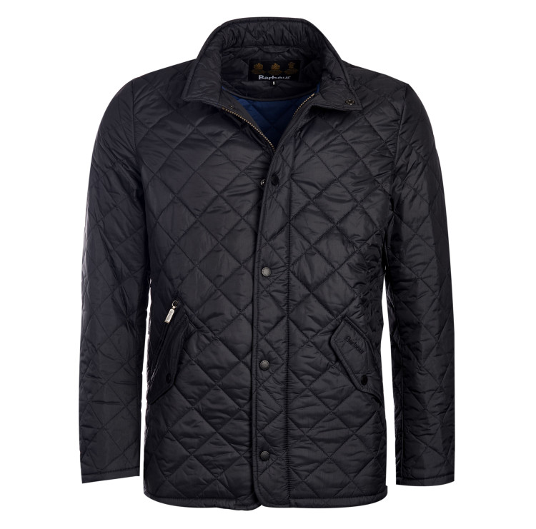Flyweight Chelsea Quilted Jacket in Black by Barbour