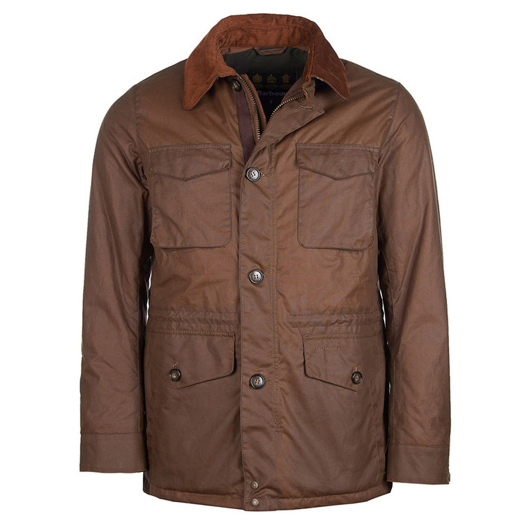 Teddon Wax Jacket in Brown by Barbour