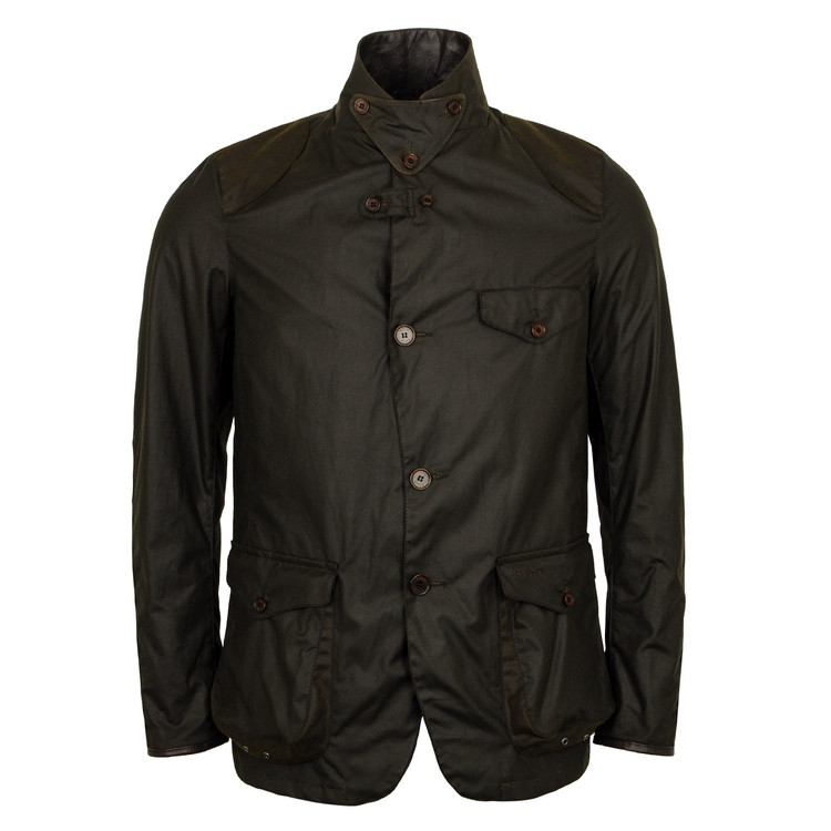 Beacon Sports Wax Jacket in Olive by Barbour