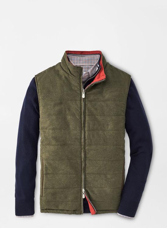 Reversible Flannel Vest in Loden by Peter Millar
