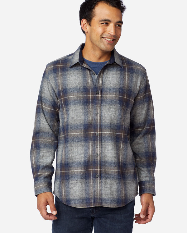 Grey, Navy and Brown Ombre Lodge Shirt by Pendleton