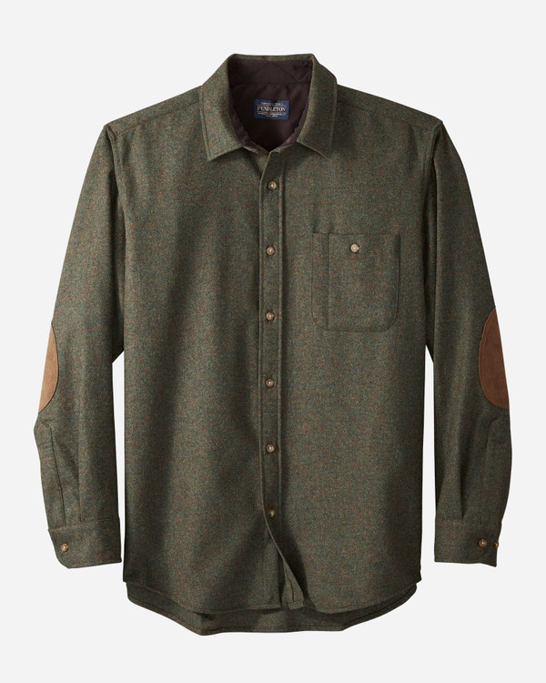 Elbow-Patch Trail Shirt in Peat Moss Mix by Pendleton