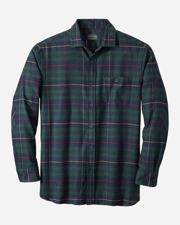 Cascade Flannel Shirt in Green,Navy, Red Plaid by Pendleton