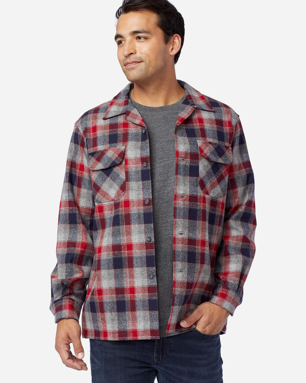 Board Shirt in Red, Grey and Navy  by Pendleton