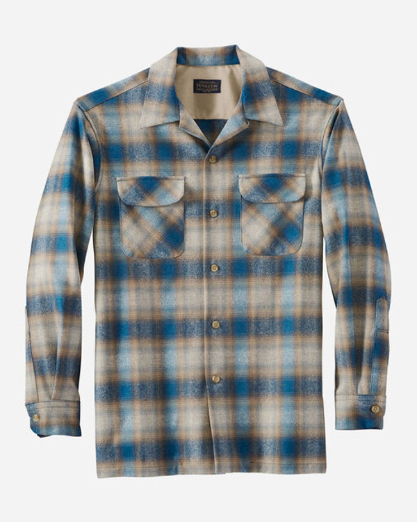 Board Shirt in Tan/Turquoise  Ombre by Pendleton