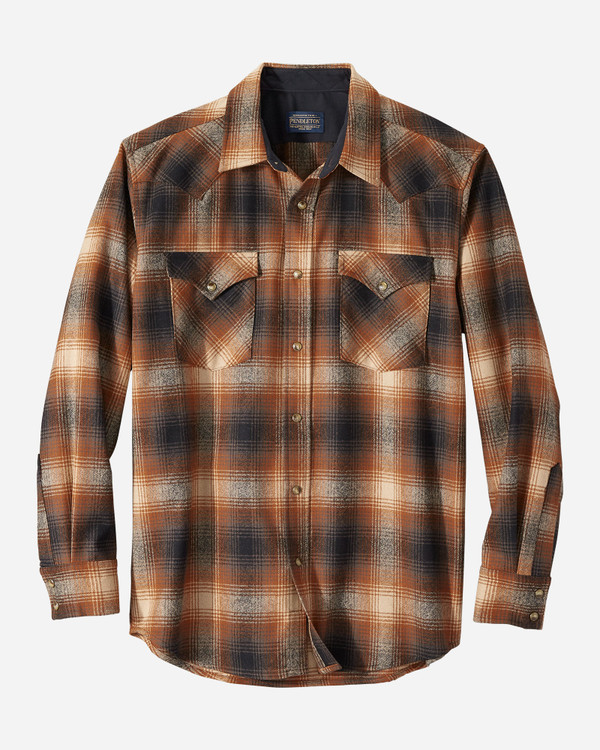 Snap-Front Western Canyon Shirt in Brown Ombre by Pendleton