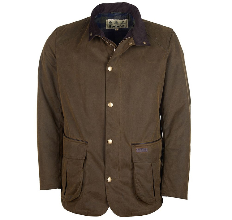 Gilpin Wax Jacket in Olive by Barbour