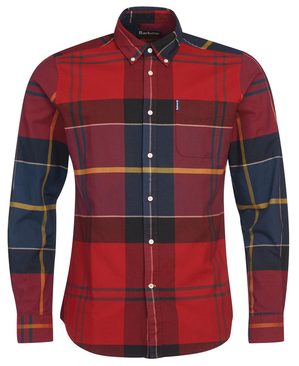 Tartan 10 Tailored Shirt in Crimson by Barbour
