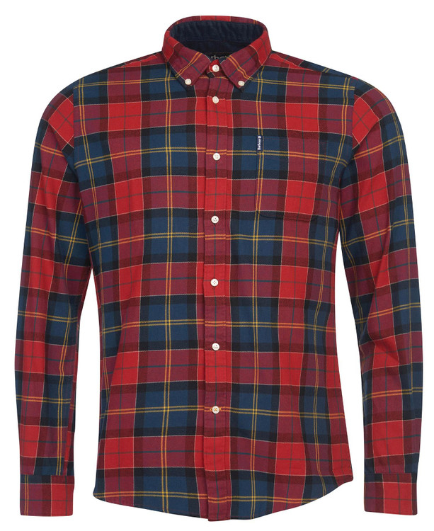 Tartan 9 Tailored Shirt in Crimson by Barbour