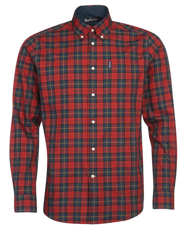 Tartan 8 Tailored Shirt in Crimson by Barbour