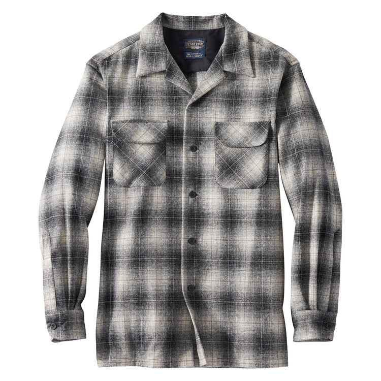 Board Shirt in Grey, Black and Tan Ombre by Pendleton