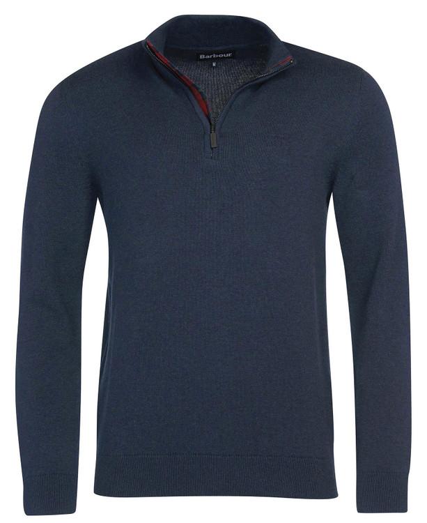Avoch Half Zip Sweater in Navy Marl by Barbour