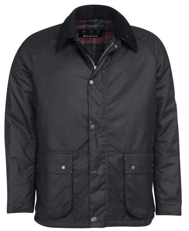 Horto Wax Cotton Jacket in Navy by Barbour