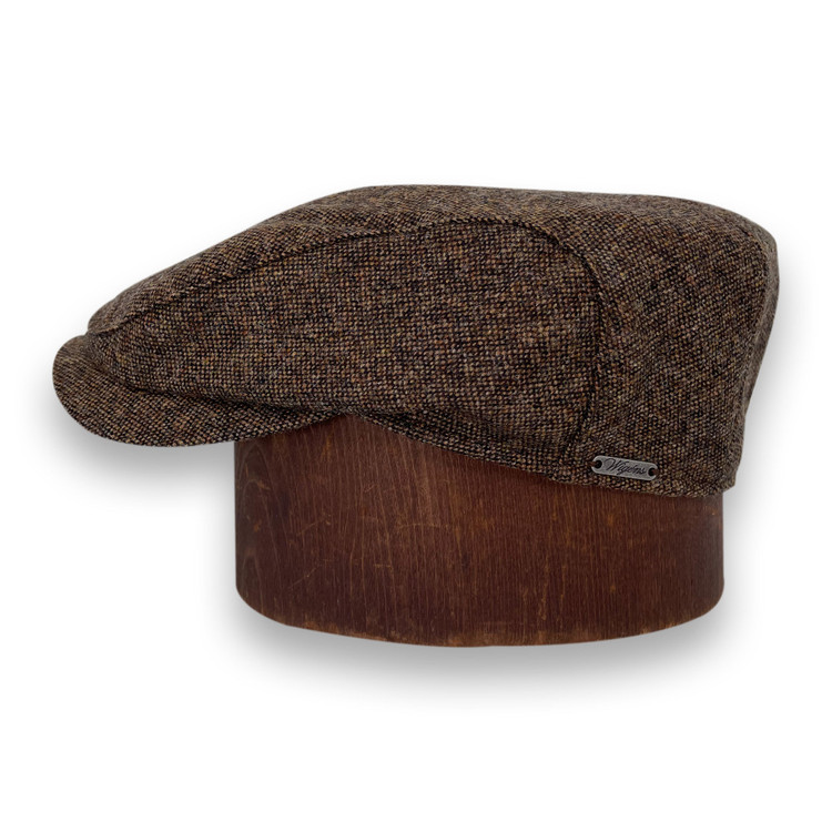 Ivy Contemporary Cap in Brown Melange by Wigens