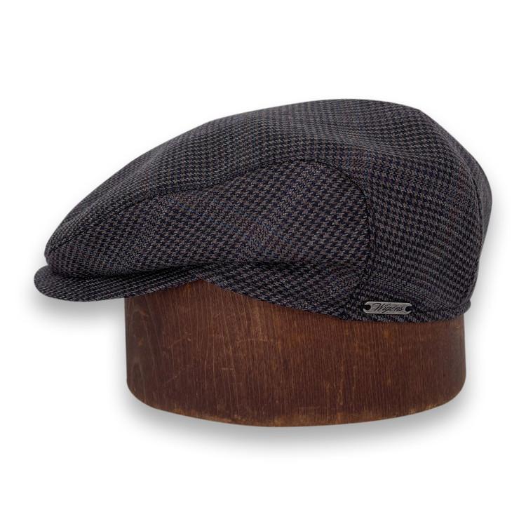 Hansen's Exclusive Ivy Slim Cap in Black Dogtooth by Wigens