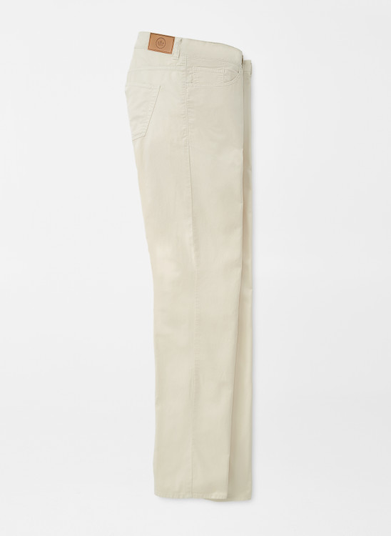 Broken Twill Cotton-Blend Five-Pocket Pant in Stone 32x30 by Peter Millar