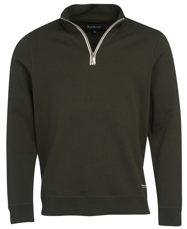 Lockley Half Zip Sweater in Forest by Barbour
