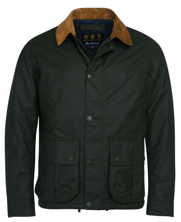 Allund Wax Cotton Jacket in Forest by Barbour