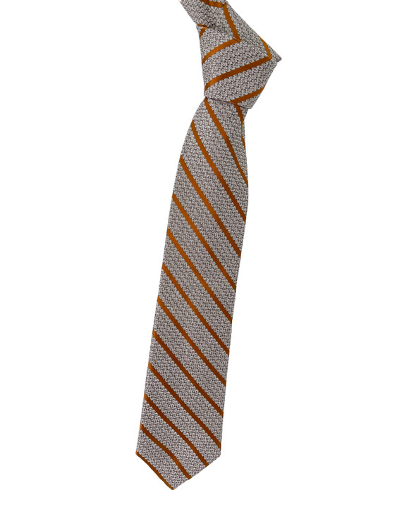 Gold Stripe Woven Silk Estate Tie by Robert Talbott