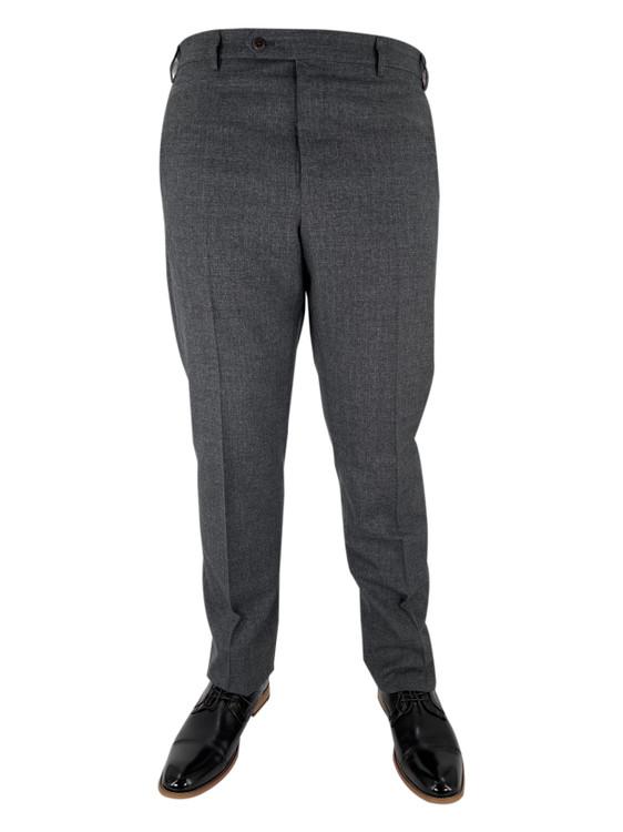Fall 2020 Devon Flat Front Dress Trouser in Medium Grey by Zanella