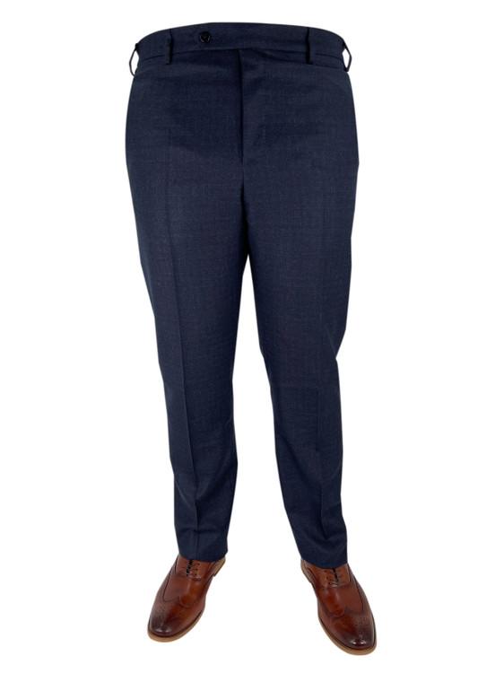 Fall 2020 Devon Plaid Flat Front Dress Trouser in Blue by Zanella