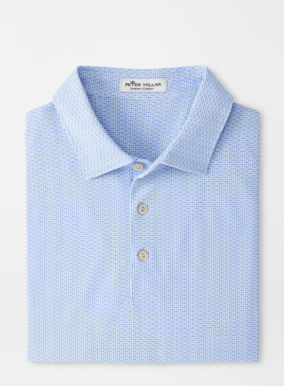 Water Performance Mesh Polo in Blue Sea by Peter Millar
