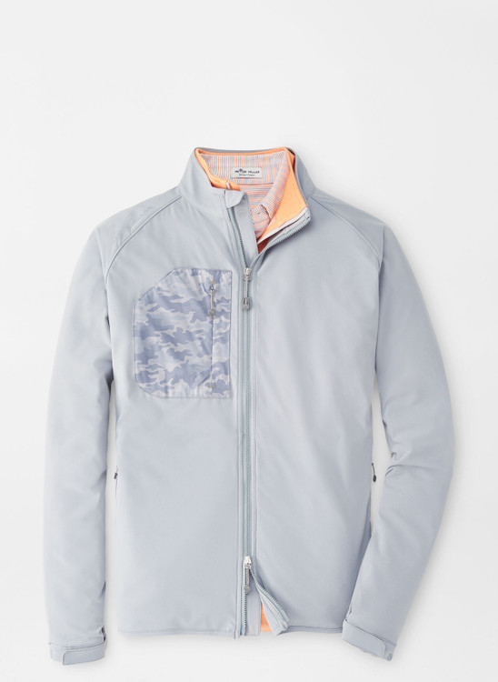 Flex Adapt Wind Cheater Shell in Gale Grey by Peter Millar