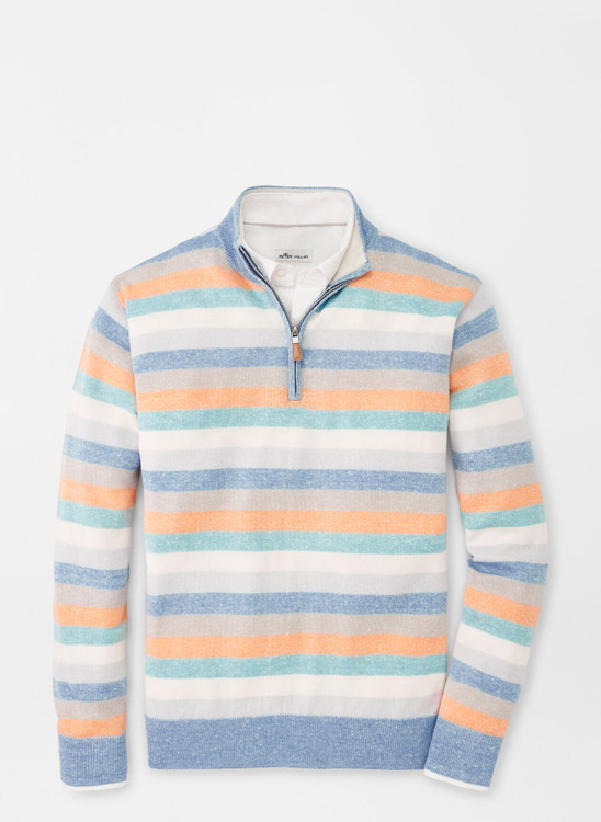 Crown Cool Coach Quarter-Zip Sweater in Cottage Blue by Peter Millar