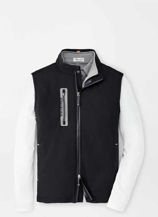 Hyperlight Fuse Hybrid Vest in Black by Peter Millar