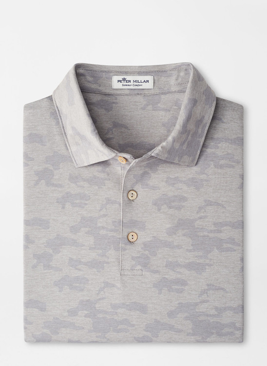 Carter Performance Jersey Polo in Gale Grey by Peter Millar