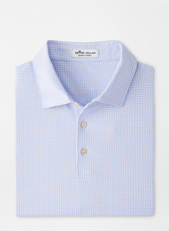 Moon Performance Jersey Polo in White by Peter Millar