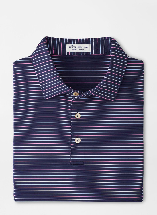 Boat Performance Jersey Polo in Navy by Peter Millar