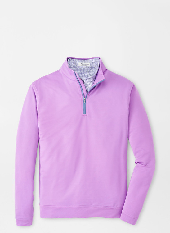 Mélange Perth Quarter-Zip Performance Pullover in Guava Pink by Peter Millar