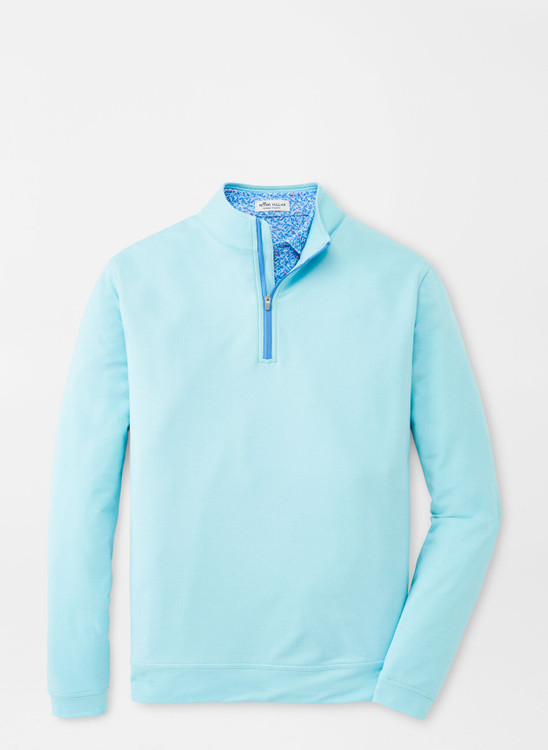 Mélange Perth Quarter-Zip Performance Pullover in Porcelain by Peter Millar