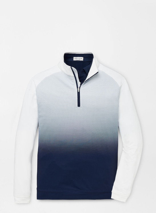 Dip-Dye Perth Performance Pullover in Navy by Peter Millar