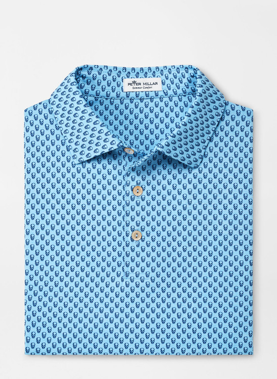 Hudson Performance Jersey Polo in Cottage Blue by Peter Millar