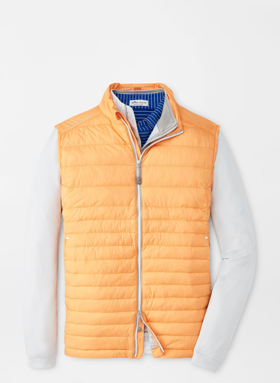 Hyperlight Quilted Vest in Orange Nectar by Peter Millar