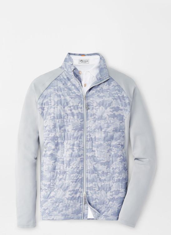 Camo Hyperlight Merge Hybrid Jacket in Gale Grey by Peter Millar