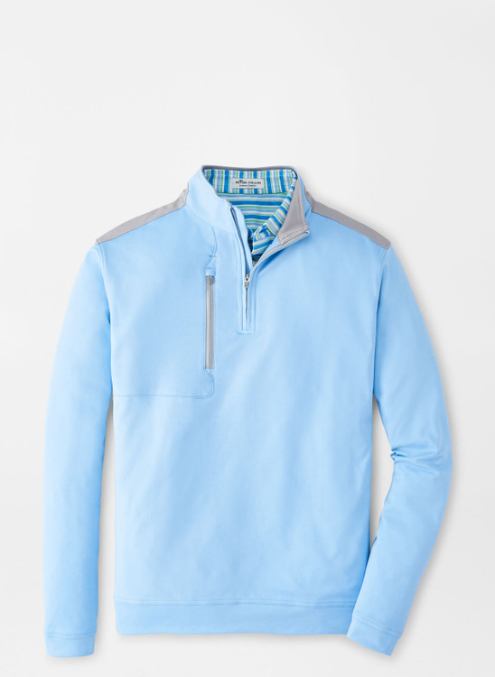 Bowen Performance Quarter-Zip in Cottage Blue by Peter Millar