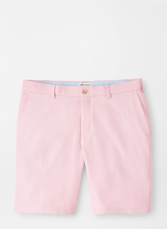 Salem High Drape Performance Short in Palmer Pink by Peter Millar