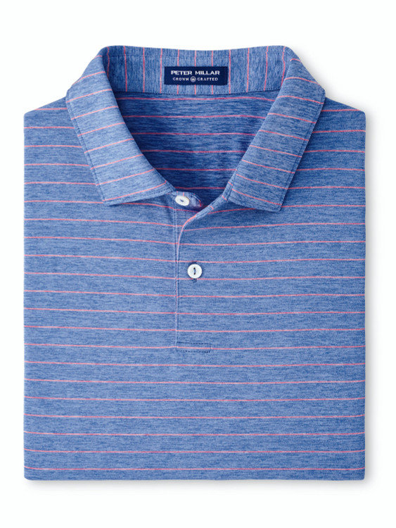 Wright Performance Jersey Polo in Lunar Blue by Peter Millar