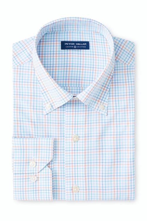 Braxton Performance Poplin Sport Shirt in Bluebell by Peter Millar