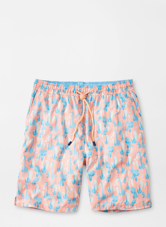 Flamingo Frontier Swim Trunk in Nectarine by Peter Millar
