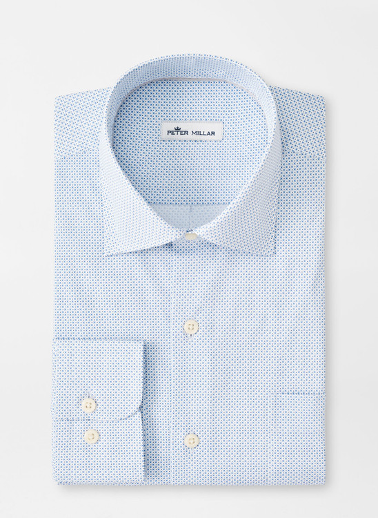 X's & O's Cotton-Blend Sport Shirt in White by Peter Millar
