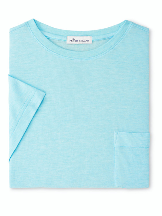 Summer Soft Pocket Tee in Bayside Blue by Peter Millar