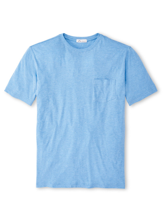 Summer Soft Pocket Tee in Coastal Blue by Peter Millar
