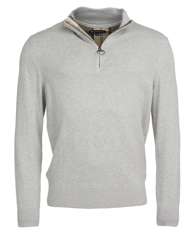 Tain Half-Zip Sweater in Grey Marl by Barbour
