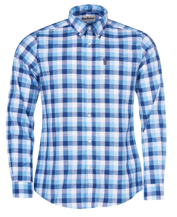 Gingham 25 Tailored Shirt in Blue by Barbour